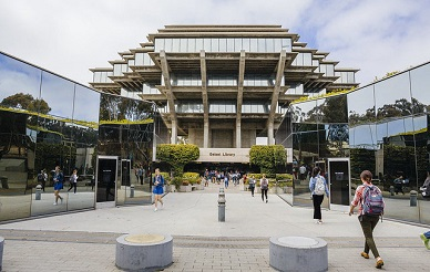 View of Geisel Library entrance